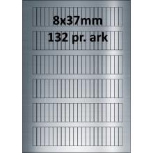 25 ark 8A37SP1-25 Sølvpolyester Bredde 00-30mm
