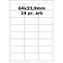 500 ark 729949.5207 Hvide Papir Labels -Volume køb