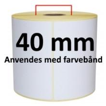 1 rulle 30R15TTU3-40 Hvid TT Kerne 40mm