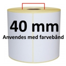 1 rulle 45R36TTU3-40 Hvid TT Kerne 40mm