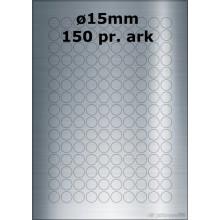 25 ark 15ARSP3-25 Sølvpolyester Runde