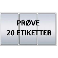 20 etiketter GRV3-PRØVE Grå Vinyl Kerne 76