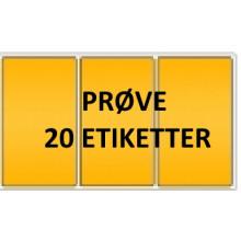 20 etiketter SYV3-PRØVE Signal Gul Kerne 76