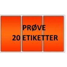 20 etiketter OV3-PRØVE Orange Vinyl Kerne 76
