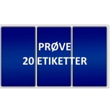 20 etiketter BLV3-PRØVE Blå Vinyl Kerne 76