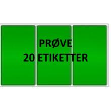20 etiketter GV3-PRØVE Grøn Vinyl Kerne 76