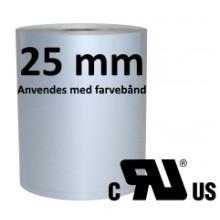 1 rulle 100RPSR-TT3-25 Continuous Sølv Polyester Kerne 25