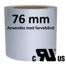 1 rulle 50RPSR-TT3-76 Continuous Sølv Polyester Kerne 76