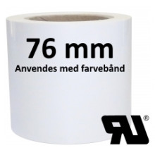 1 rulle 100RAX-TT3-76 Continuous Hvid Polyester -Extreme klæber