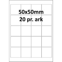 25 ark 50A50W1-25 Hvide Polyester Bredde 31-60mm