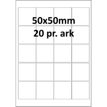 25 ark 50A50AXWE1-25 Hvide Polyester Extreme Bredde 31-60mm