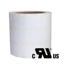 1 rulle 9R9AM3-76 Hvid Polyester på ruller Kerne 76