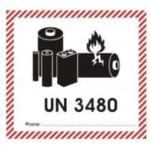 1 rulle UN3480-F Lithium Batteri