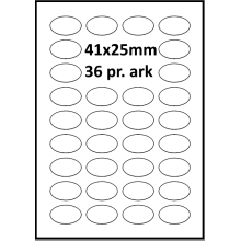 500 ark 41A25ARH3D Hvide Papir Labels -Volume køb