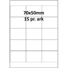 100 ark 70A50H3C Hvid papir Bredde 61-90mm