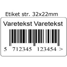 Stk. 32x22-PRN05 Varemærkning