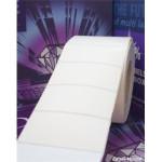Hvide Polyester labels på ruller