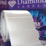 Sølv Polyester labels på ruller