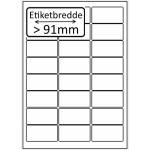 Hvid papir Bredde + 91mm