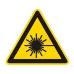 Advarsel: Laser stråle
