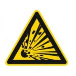 Advarsel: Explosive stoffer