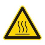 Advarsel: Varm overflade - Høj C°