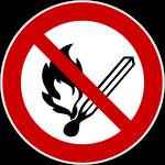 Forbudt: Åben ild og rygning