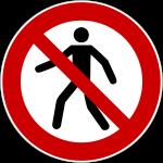 Forbudt: Fodgængere