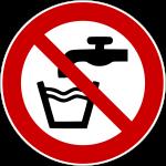 Forbudt: Drikke vand