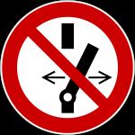 Forbudt: Tryk ikke på kontakt