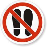 Forbudt: Gå og stå her