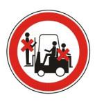 Forbudt: Personer på industri maskiner
