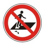 Forbudt: Gå på usikker materiale