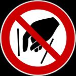 Forbudt: Ræk ikke ind