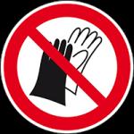 Forbudt: Adgang uden beskyttelses handsker