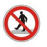 Forbudt: Adgang på rullebånd