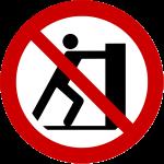 Forbudt: Ikke skubbe