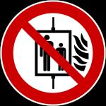 Forbudt: Brug af elevator ved brand