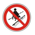 Forbudt: Persontransport på transportbånd