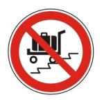 Forbudt: Brug af vogn på rulletrappe