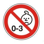 Forbudt: Børn under 3 år