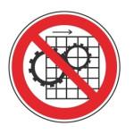 Forbudt: Fjernelse af beskyttelses udstyr