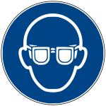 Påbud: Beskyttelsesbriller