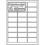Hvide Polyester Glossy Bredde 31-60mm